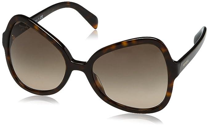 Prada Damen Sonnenbrille PR05SS, Braun (Medium Havana 7S04R2), One size (Herstellergröße: 56)