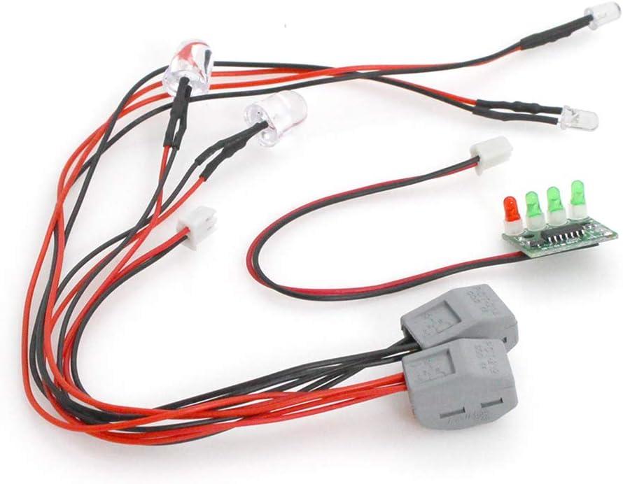 sharprepublic Set di Luci A LED Parti di Scheda Indicatore di Alimentazione Prese Positive E Negative per Flytec V700 Bait Boat