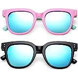 Kids Polarized Sunglasses Soft Frame Eyewear for Boys Girls UV400 Protection Age 3-10