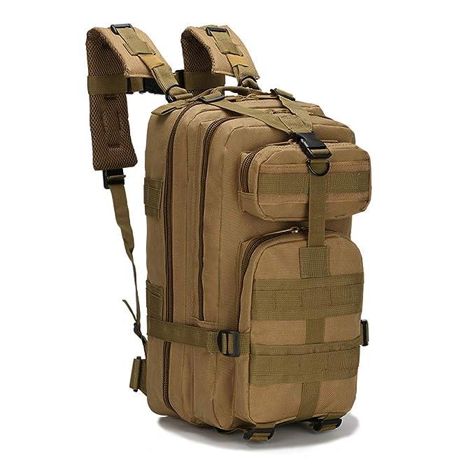 JiaMeng Mochila de Asalto Estilo Militar Táctical Bolsa de Viaje de Camuflaje Deportivo al Aire Libre Unissex 3P Mochilas Camping Senderismo Trekking: ...