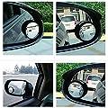 TETC Blind Spot Mirror 360 Degree Adjustable 45MM Black 2 Pcs