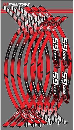 Psler Motorrad Felgenrandaufkleber Rim Stripes Aufkleber Für F650gs Rot Auto