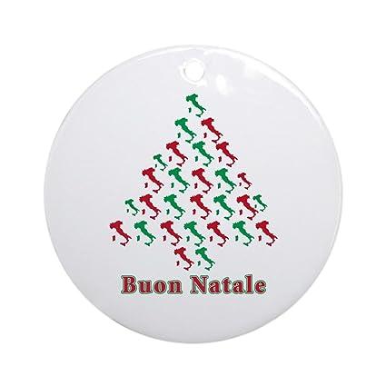 Buon Natale Ornament.Cafepress Buon Natale Ornament Round Round Holiday Christmas Ornament