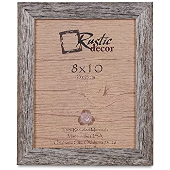 8x10 picture frames barnwood reclaimed wood standard photo frame