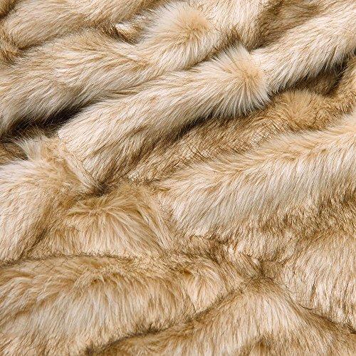 - EUDOR Nouveau Faux Fur Sheepskin Dog Bed, Cat Mat, Luxury Padded Warm Alaskan Grizzly Bear Pet Pad - Handcrafted in USA (20x24 S, Alaskan Grizzly Bear)