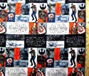 キャラクター生地・USAコットン・スターウォーズ(フォースの覚醒)(REY・グレー/オレンジ)#9の商品画像