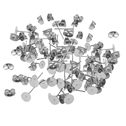 Sharplace 60 Pairs Lot Hypoallergenic Earrings Pin Stud Blank Back Lock Post  Pad Blank Crafts DIY Making Crafts  Amazon.co.uk  Kitchen   Home 02962af8c1d5
