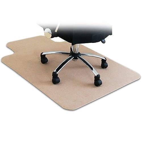 ottostyle.jp 床を保護するチェアマット カーペットタイプ ベージュ 120cm×90cm 厚さ3mm フローリングや畳のキズ防止に 学習 机 椅子 勉強 メモ 下敷 デスクワーク 撥水 カット可能