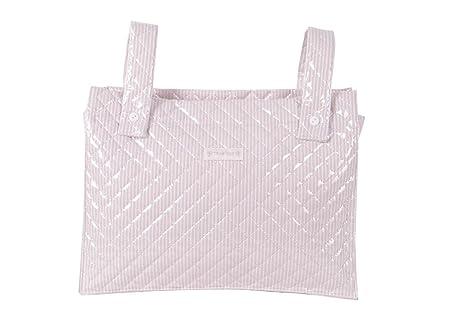 Trapitos. Bolsa panera plastificada, rayas beige: Amazon.es ...