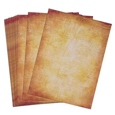 100 Hojas de Papel Antiguo Carta Pergamino Vintage DIN A4 (B ...