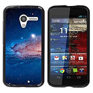 Armonización de la Tierra - Metal de aluminio y de plástico duro Caja del teléfono - Negro - Motorola Moto X 1 1st GEN I