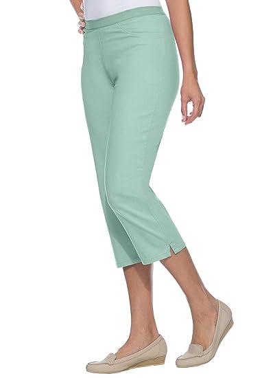 1feb2712d59 Jessica London Women s Plus Size Capri Jeggings at Amazon Women s Clothing  store  Leggings Pants