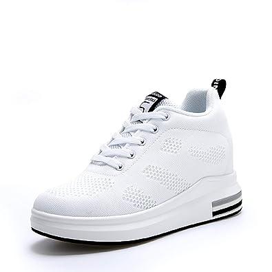 6f96f5a0245a AONEGOLD® Femme Baskets Compensées Chaussure de Sport Marche Fitness  Sneakers Basses Compensées 8 cm(