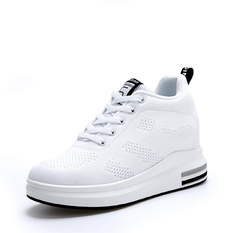 269bb4617cd6 AONEGOLD® Femme Baskets Compensées Chaussure de Sport Marche Fitness  Sneakers Basses Compensées 8 cm product