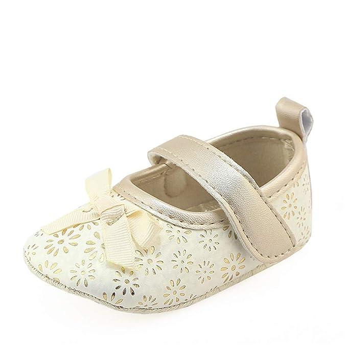 YanHoo Zapatos para niñas pequeñas Bebé Hueco Arco Zapatos de niño Zapatos de Princesa Zapatos de