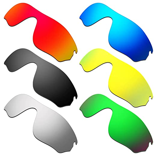 61571597c5a HKUCO Mens Replacement Lenses for Oakley RadarLock Pitch Red Blue Black 24K  Gold