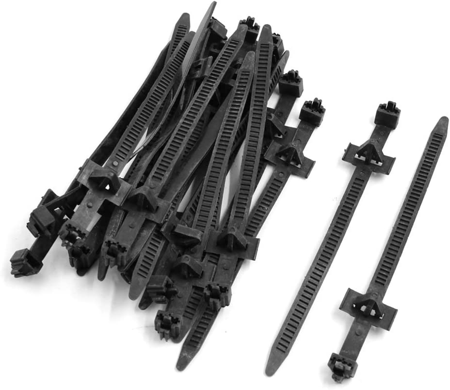 uxcell 20 Pcs 120mm x 8mm Black Cable Ties Zip Fasten Wire Wrap Strap 13mm Hole Dia