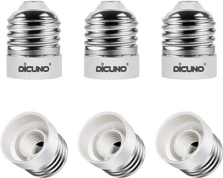 Pack of 10 Max Wattage 200W 165 Degrees Heat Resistant E26//E27 to E12 Converter Bulb Base DiCUNO E26//E27 to E12 Adapter Light Socket