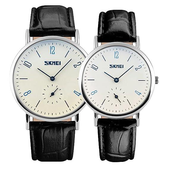 reloj de cuarzo números arábigos los hombres con estilo de cuero negro de  la manera clásica 9ee466d5c26e