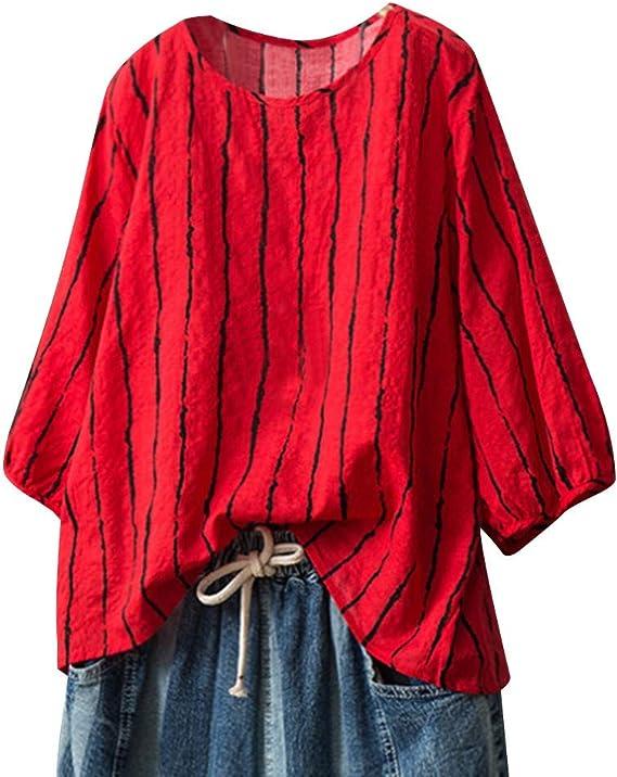 JYJM - Camisa Informal para Mujer, de Manga Corta, para Verano, Transpirable, a la Moda, Informal, de Moda Rojo Rojo M: Amazon.es: Relojes