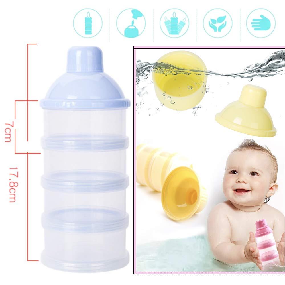 4 Schicht Milch Pulver Spender Formel Milchpulver-Portionierer,S/äuglingsnahrung Kasten,Tragbare Milchkasten,Milchpulver-Portionierer,Milchpulver Box,Milchpulverspender(2 St/ück ,BPA-frei)