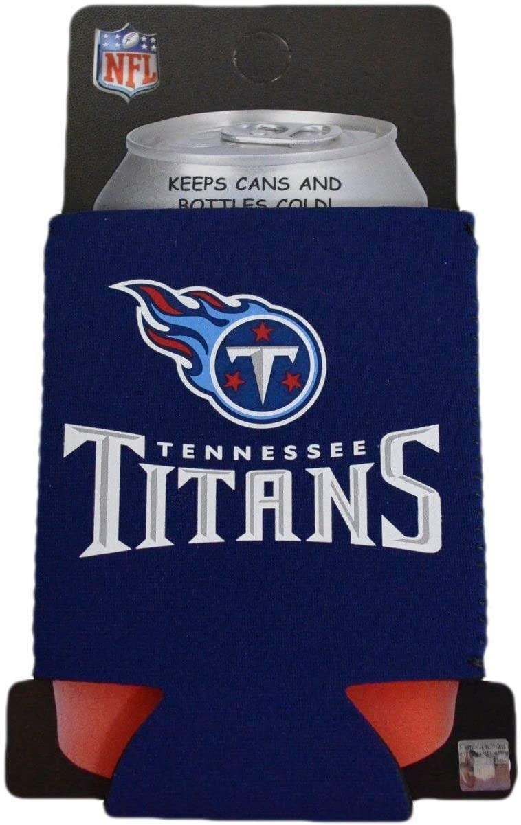 LA Auto Gear Tennessee Titans NFL Team Logo Sports Drink Beer Water Soda Beverage Can Insulated Picnic Outdoor Party Beach BBQ Kooler Can Cooler - 12oz Classic Can