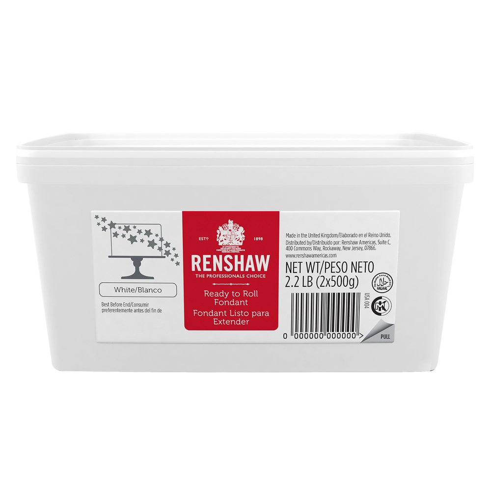 Ready to Roll Fondant Icing White 2.2lb Pail by Renshaw