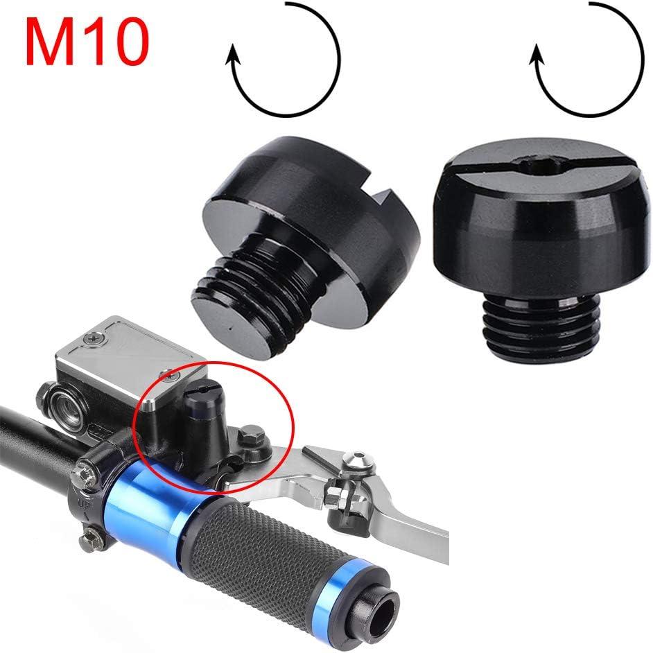 Capuchons pour r/étroviseurs /à vis pour bouchons /à r/étroviseurs Bouchon /à vis de moto en aluminium universel Vis /à t/ête trou miroir M8 regular+reverse thread