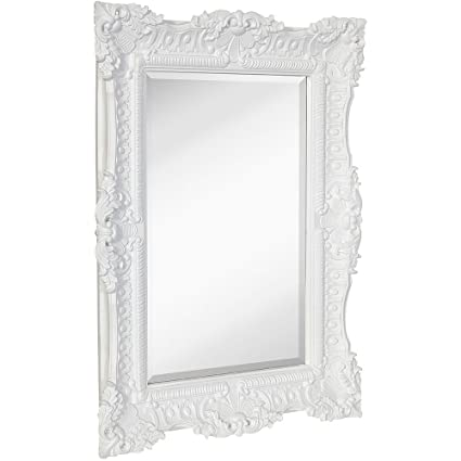 2c144906f921 Amazon.com  Hamilton Hills Large Ornate White Gloss Baroque Frame ...