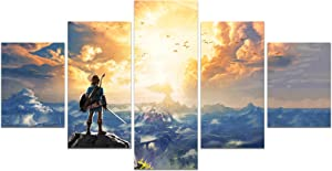 The Legend of Zelda Breath of The Wild Poster Video Game HD Print on Canvas Painting Wall Art for Living Room Decor Boy Gift (Unframed, The Legend of Zelda 1)