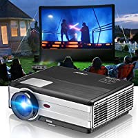 3500 Lumen WXGA Outdoor Video Projector Home Theater Cinema LCD Image Full HD 1080P Support with HDMI USB VGA TV Earphone Port-Multimedia LED Entertainment Game Proyector