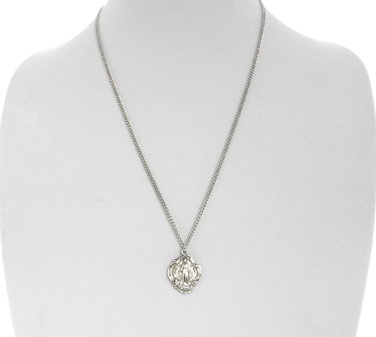 Hail Mary Prayer Sterling Silver Pendant + 24 Inch Sterling Silver Chain with Clasp by Heartland Store (Image #4)