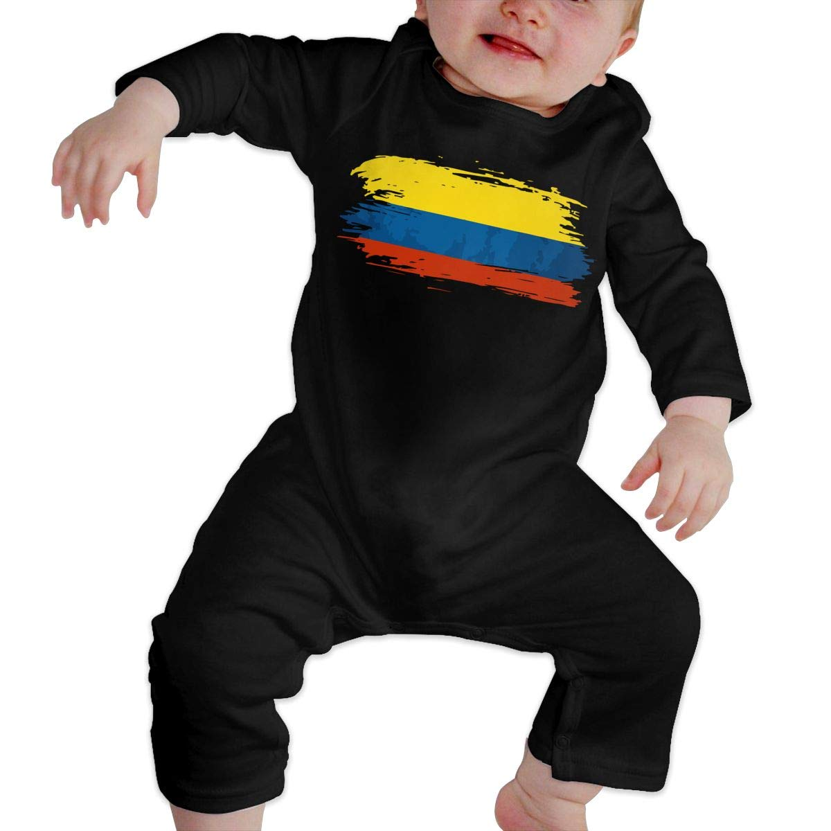 Suit 6-24 Months Q64 Toddler Round Collar Colombia Flag Long Sleeve Romper Jumpsuit 100/% Cotton