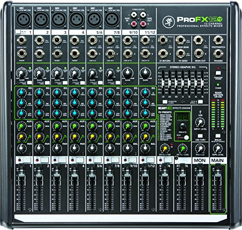 Control Mackie - Mackie PROFX12V2 12-Channel Compact Mixer with USB and Effects