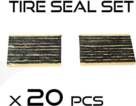 20pcs Repair Strings Tubeless Tyre Rubber Seal Strip Inserts Plugs 100mm Car New