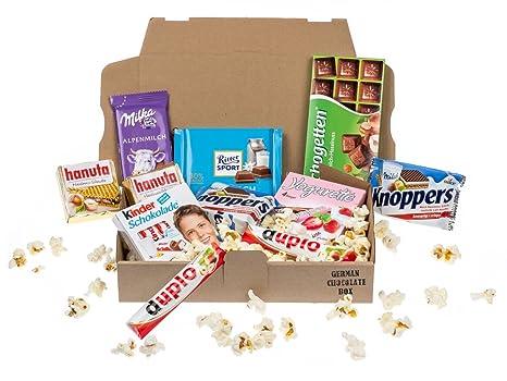 Mini caja de dulces y chocolates alemanes
