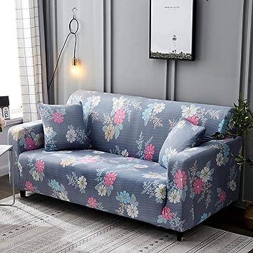 binglinshang Funda de sofá de Hoja Verde Juego de algodón ...