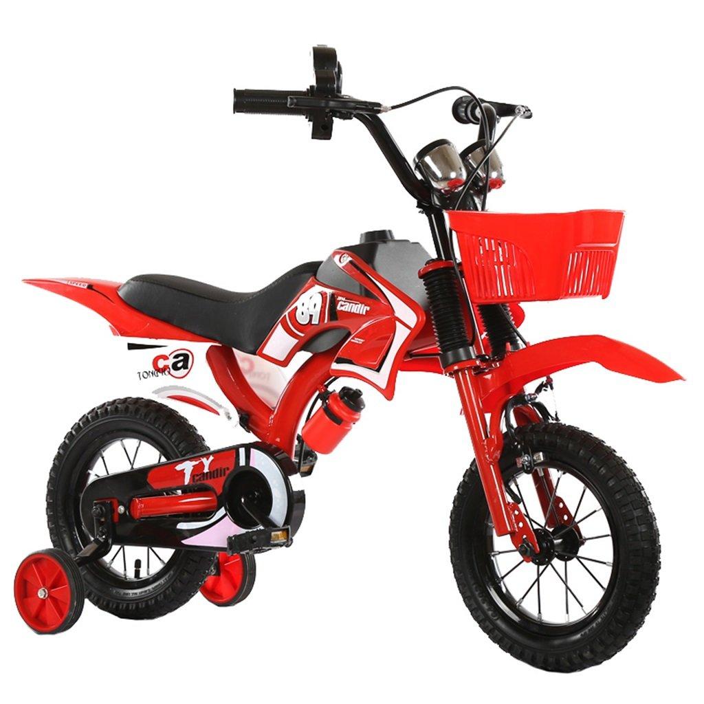 KANGR-子ども用自転車 アウトドア子供用自転車シミュレーションオートバイの設計に適した2-5-8少年少女トレーニングホイール付きキッドバイク-12 / 14/16/18インチ ( 色 : 赤 , サイズ さいず : 14 inch ) B07BTZDYDJ赤 14 inch