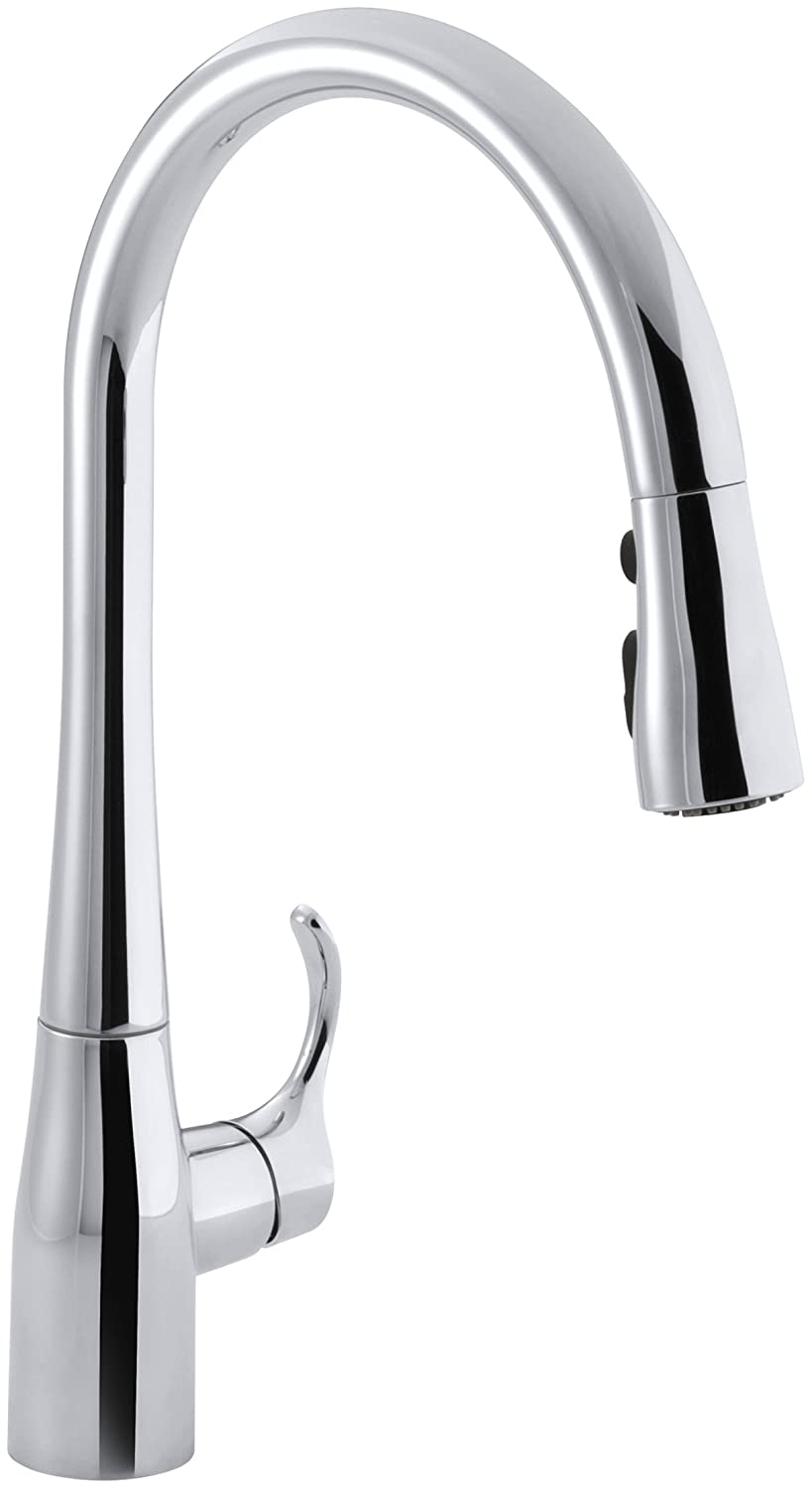 kohler k596cp simplice singlehole pulldown kitchen faucet polished chrome touch on kitchen sink faucets amazoncom
