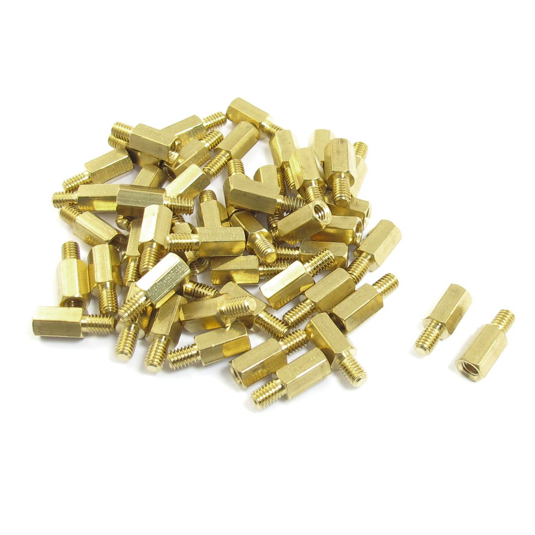 uxcell 50 Pcs Male to Female Threaded Hexagonal Standoff Spacer M4x10mmx16mm