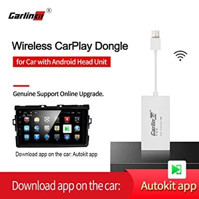 Carlinkit Wireless Carplay Dongle Wired Android Auto for Android Car Navigation Stereo Head Unit, Install autokit app in car, MirrorScreen/iOS13/Online Upgrade Dongle, NOT for OEM Factory Car Unit: Car Electronics