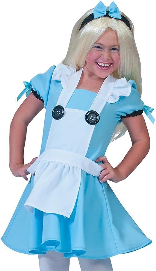 Das Kostümland Disfraz de Alicia de Cuento de Hadas para niña ...