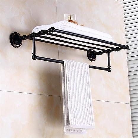 Suministros de Cocina para el Hogar Accesorios de baño de Cobre Negro  Estilo Europeo Doble toallero a3fd1df02d4d