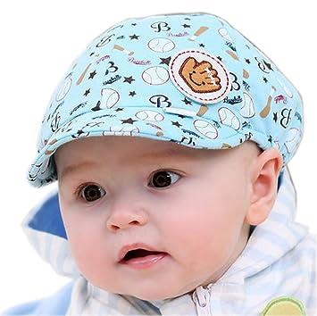 61ed09c9c Baby Boy Beret Toddler Sun Protection Hat Infant Floppy Cap BLUE Base Ball