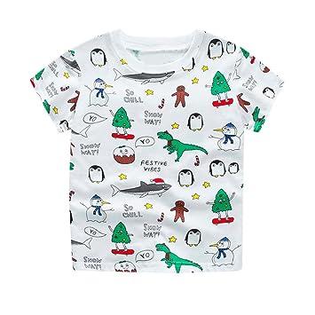 45b5fab805e089 wuayi Kleinkinder Kinder Mädchen Jungen Baby Summer Short Sleeve T-Shirt  Cartoon Gedruckt Tops Shirts Tees  Amazon.de  Haustier