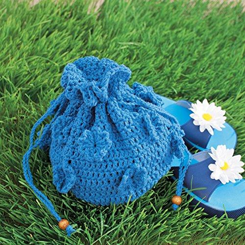 Lily Sugar 'N Cream The Original Solid Yarn - (4) Medium Gauge 100% Cotton - 2.5 oz - Blue - Machine Wash & Dry