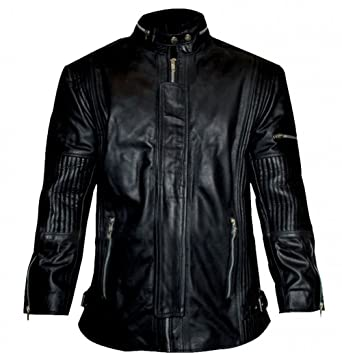 4d612ce8a Daft Punk Electroma Black Synthetic Leather Jacket at Amazon Men's ...