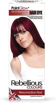 Paintglow - Rebellious Colours - Tinte de Pelo Semi-Permanente, Rojo resurección. 70 ml - 1 unidad