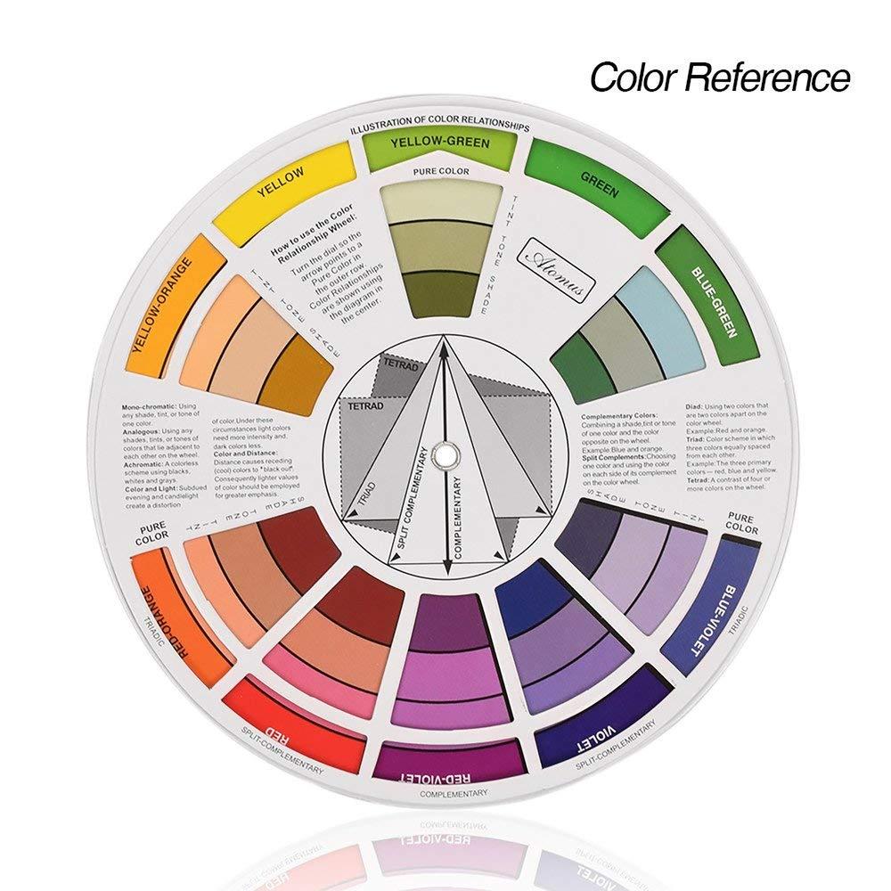 Mini Tatuaje Uña Pigmento 12 Rueda de Color Suministros de Tarjeta ...
