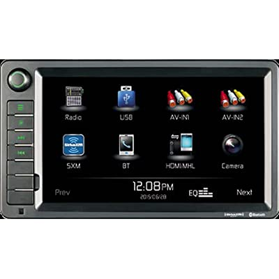 "Jensen XRV10 Double DIN 10.1"" Touchscreen Bluetooth Multimedia Receiver & Back-Up Observation System System, SiriusXM Ready / Built-In BT Technology / iPhone - iPod / MHL / HDMI / USB / AV In: Car Electronics"